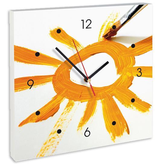 Horloge Soleil Peinture Tableaux Horloges Personnalisés