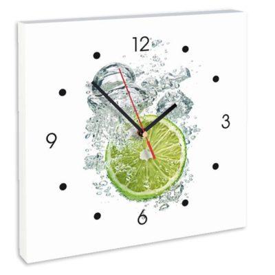 horloge rondelle de citron vert