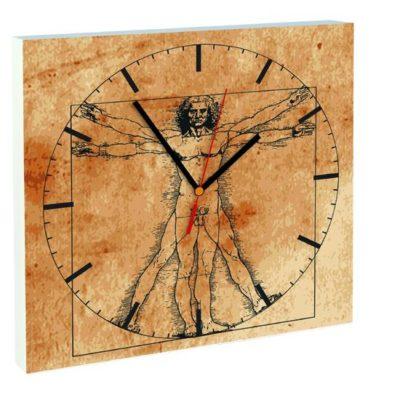 horloge homme de vitruve