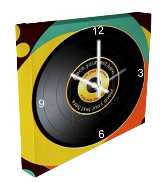 horloge disque vinyl