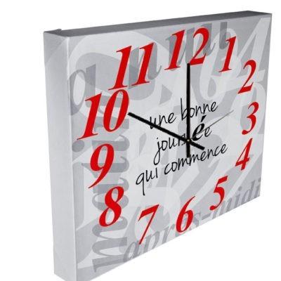 """horloge """"Mon temps est précieux"""" sans texte"""