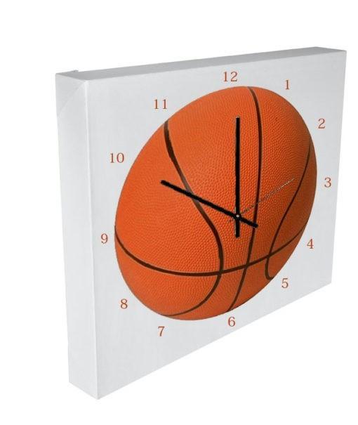 horloge ballon de basket